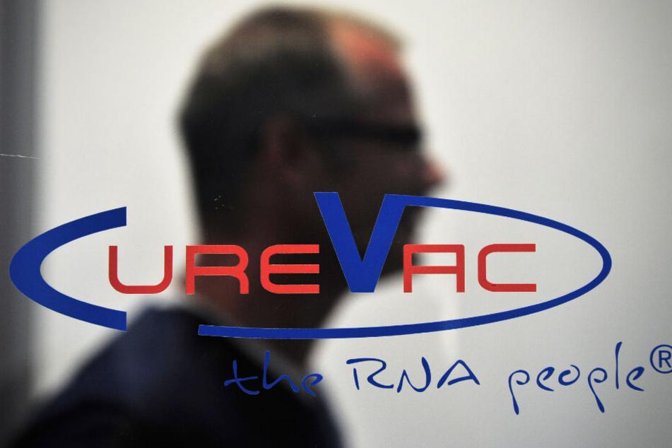 Das Firmenlogo von CureVac.