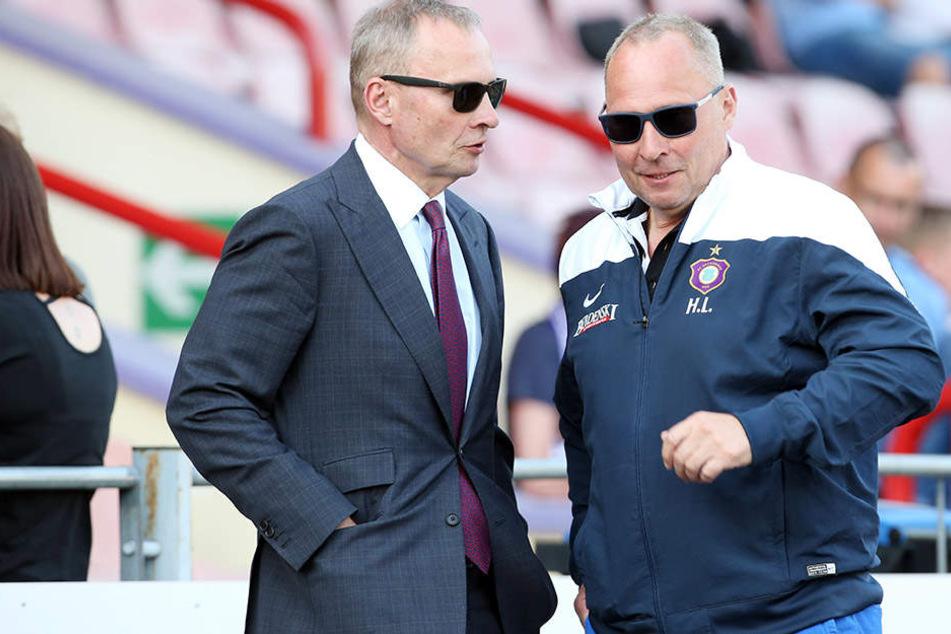 Uwe und Helge Leonhardt haben viel für den FC Erzgebirge getan. Doch immer das für den Verein Richtige?