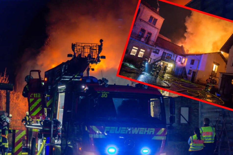 Der Gebäudekomplex stand komplett in Flammen!