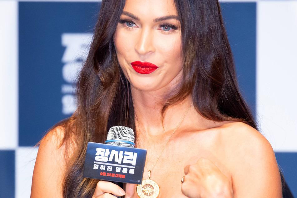Megan Fox at a showcase of her new movie Battle of Jangsari in Seoul, South Korea.