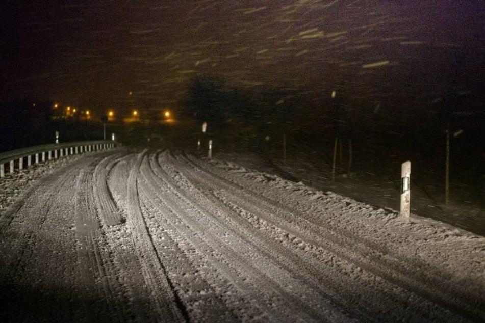 Auch im Rödertal waren am späten Dienstagabend viele Straßen nur mit viel Fingerspitzengefühl befahrbar.