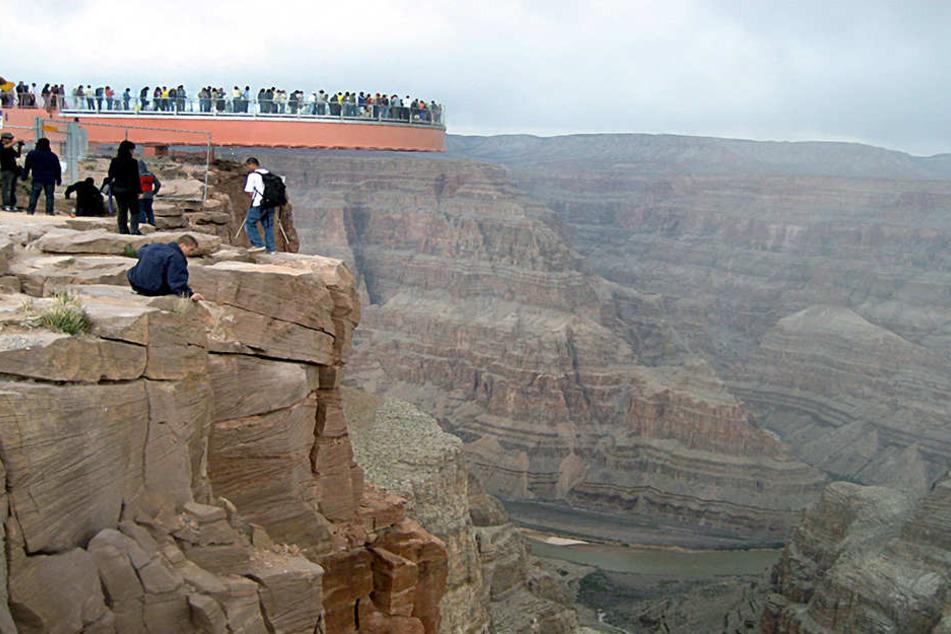 Wenn das keine Touri-Attraktion ist: Der Grand Canyon Skywalk in den USA.