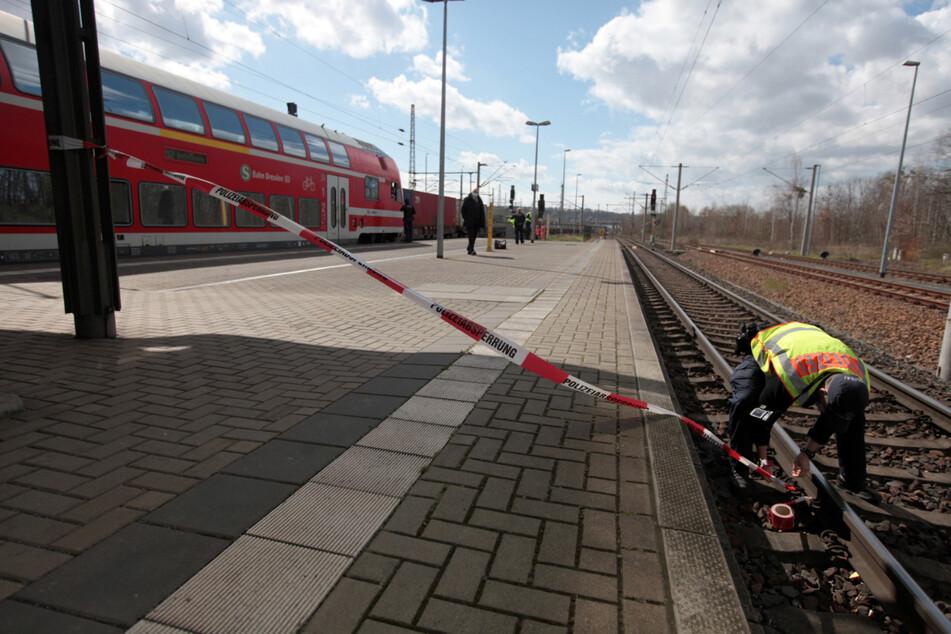 Nach dem Unfall wurde der Bahnhofsbereich komplett abgesperrt.