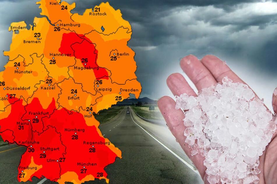 Unwetter, Hagel, Starkregen: Das erwartet uns in den kommenden Tagen
