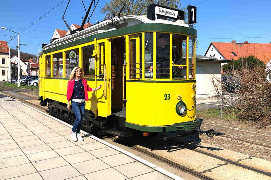 Alles einsteigen in die Oldtimerstraßenbahn!