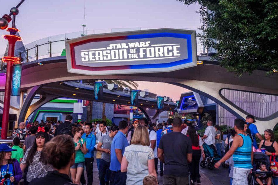 """Die """"Star Wars: Season of the Force""""-Anlage in Anaheim bereitete indes keine Probleme."""