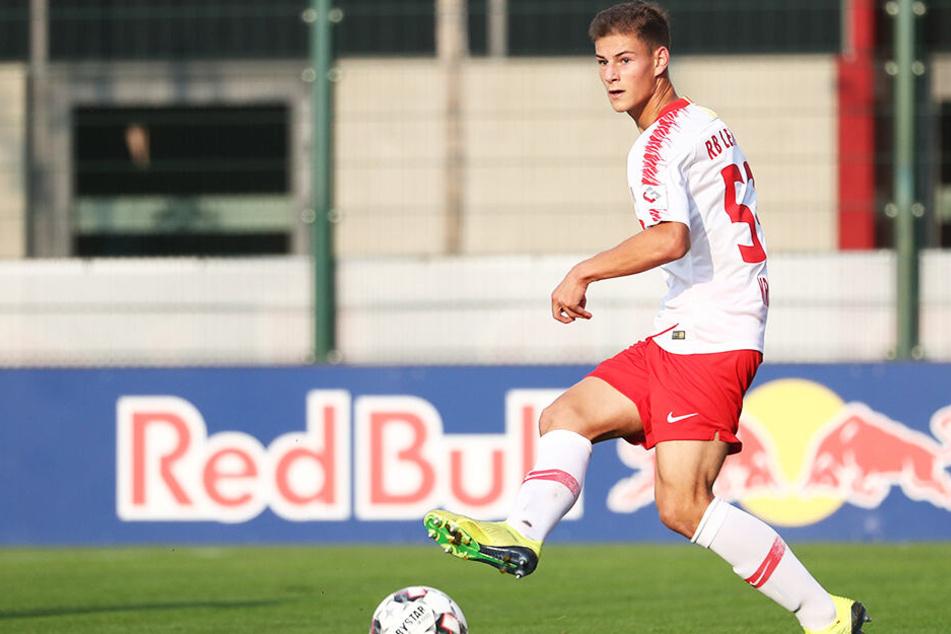 Tom Krauß drehte die Partie mit einem Doppelpack zugunsten von RB Leipzig.