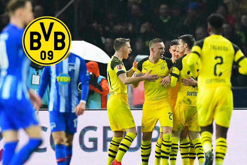 Zwei Platzverweise, Elfmeter: Spektakulärer BVB-Sieg bei starker Hertha!