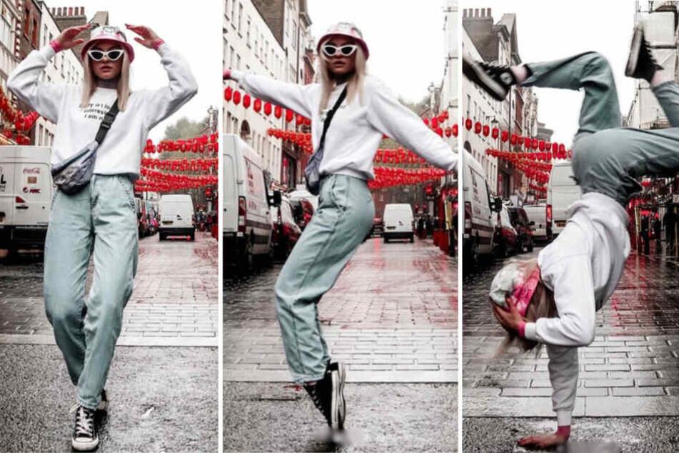 Welche GNTM-Kandidatin legt hier den fetten Breakdance hin?