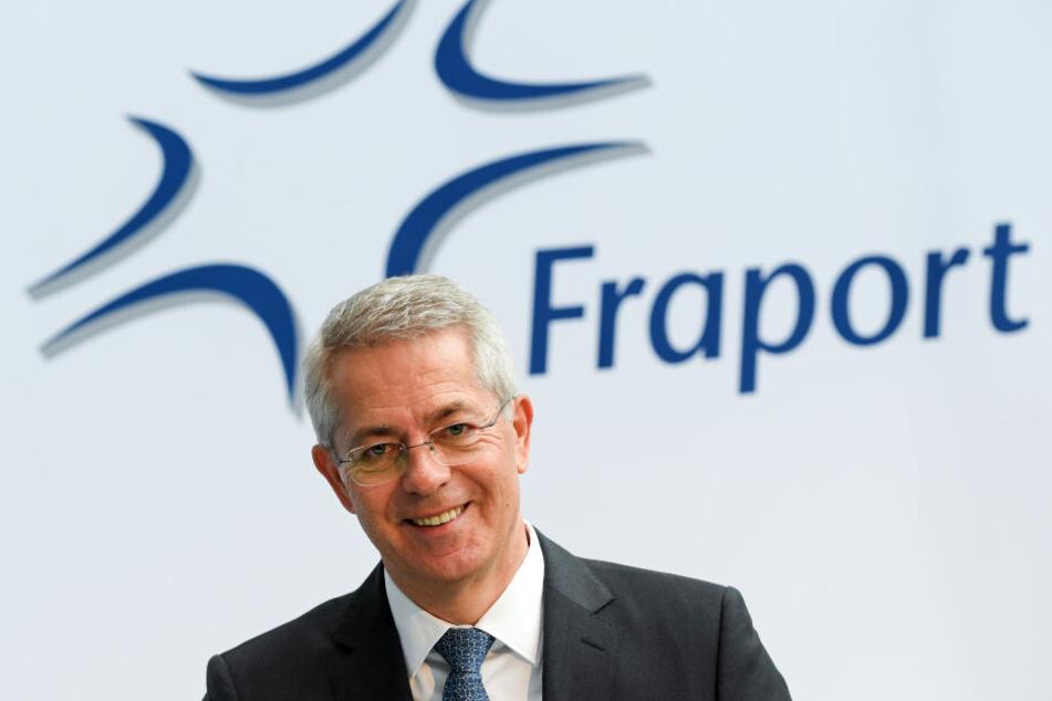 Stefan Schulte, Vorstandsvorsitzender des Flughafenbetreibers Fraport, hatte angesichts der starken Zahlen gut lachen.