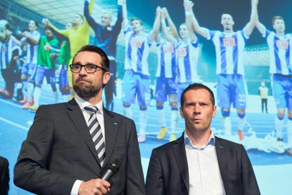Zwei Hertha-Legenden, Zwei auslaufende Verträge: Michael Preetz und Pal Dardai.