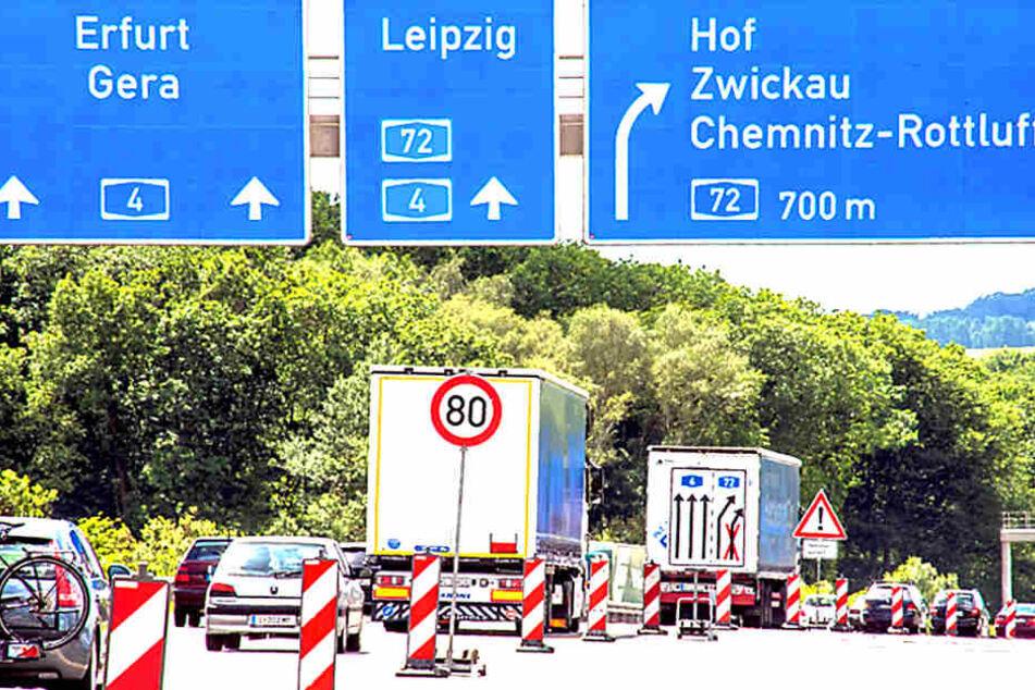 Baustellen-Chaos auf Sachsens Autobahnen! Stau-Alarm vor den Ferien