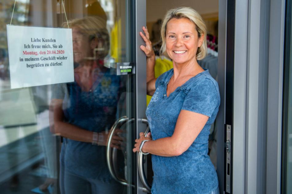 Sie freut sich schon auf ihre Kunden: Katrin Moses (53) von Damenmode Style.