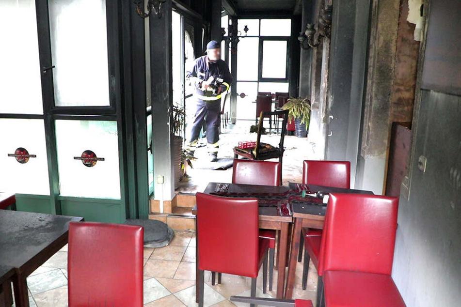 Das Restaurant wurde bei dem Anschlag vollkommen zerstört.