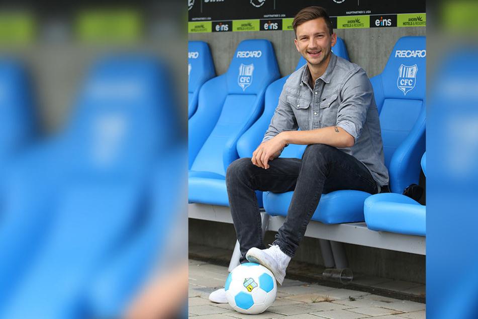 Matti Langer (28) freut sich auf die Zeit beim CFC.