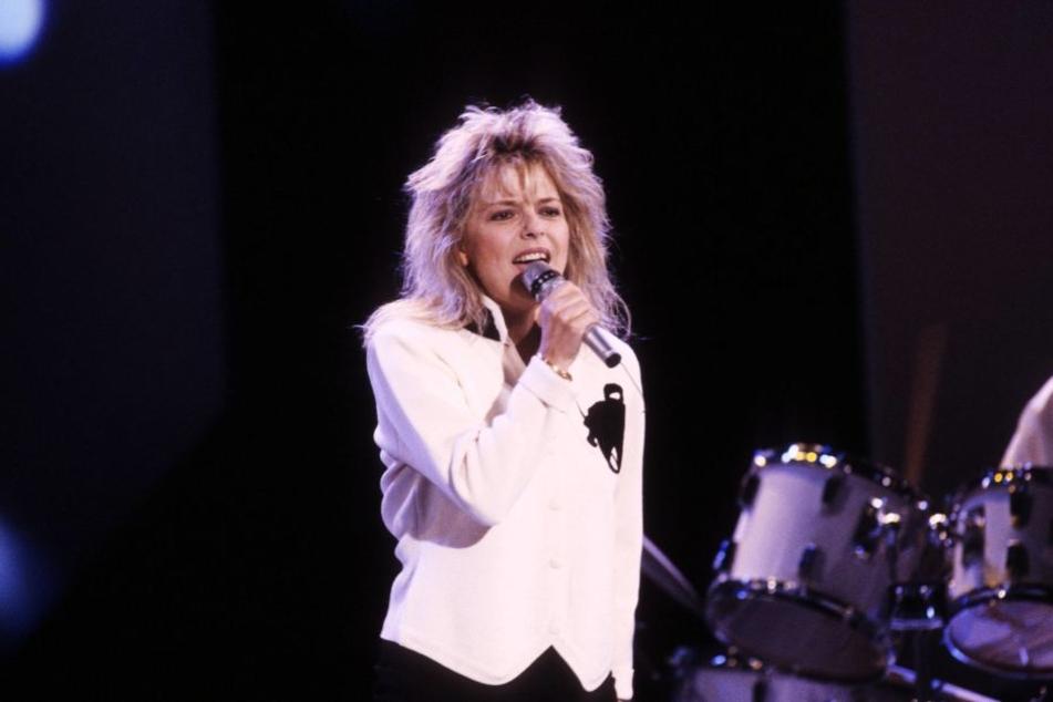 France Gall bei einem Auftritt im Jahr 1988 .