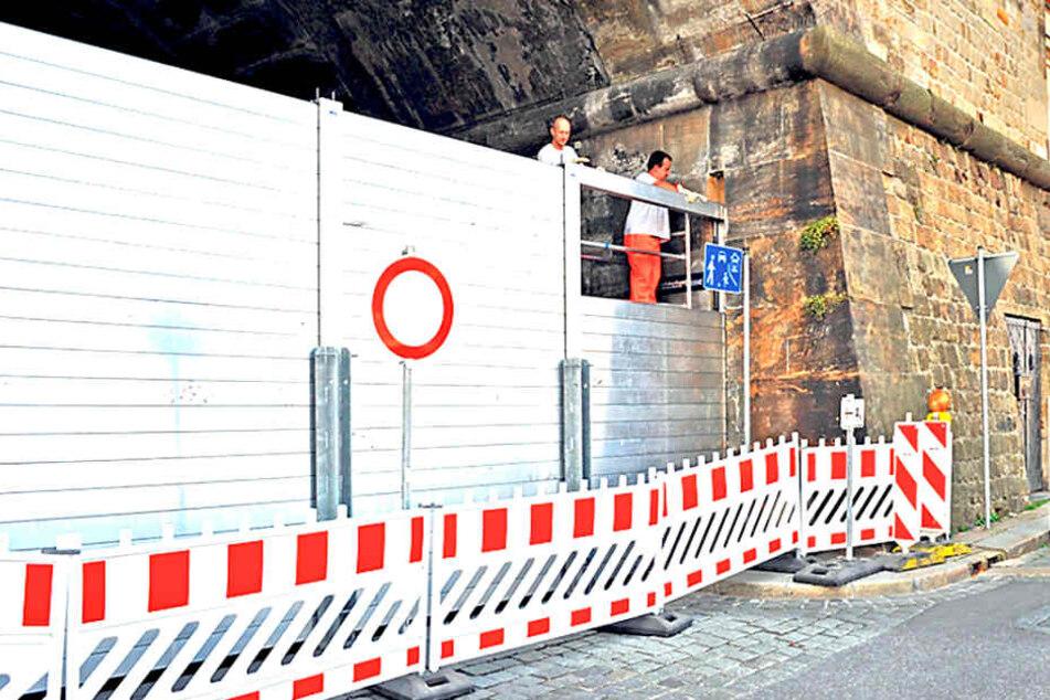 Zukünftig soll Dresden die Kosten für den mobilen Hochwasserschutz selbst  tragen.