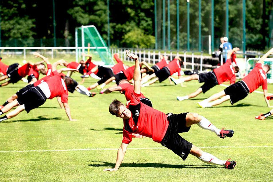 Wie schon im Vorjahr schlägt der FSV Zwickau im sommer seine Zelte in der  Sportschule Bad Blankenburg auf.