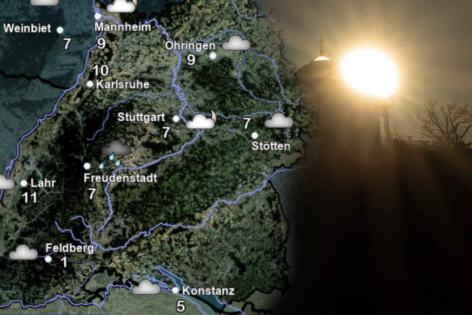 So wird das Wetter in Baden-Württemberg. (Symbolbild)