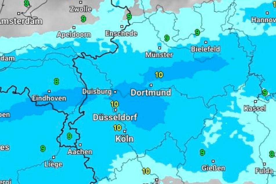 In der Region Ostwestfalen-Lippe wird es richtig nass.