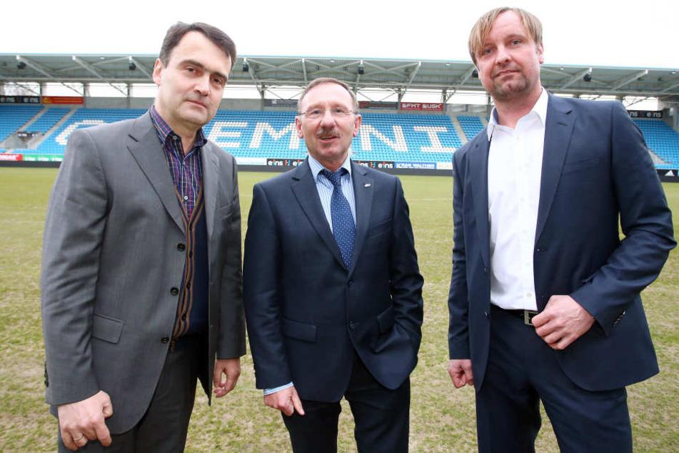 Auf den CFC-Vorstand mit Präsident Dr. Mathias Hänel, Herbert Marquard und Stefan Bohne (v.l.) wartet eine Menge Arbeit.