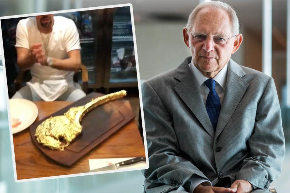 Wolfgang Schäuble kritisiert Ribéry wegen Blattgold-Steak