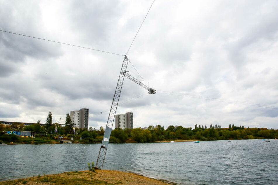 Die Wasserski-Anlage in Leuben.