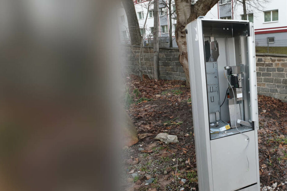 Lauter Knall in Chemnitz: Parkautomat auf dem Kaßberg gesprengt!