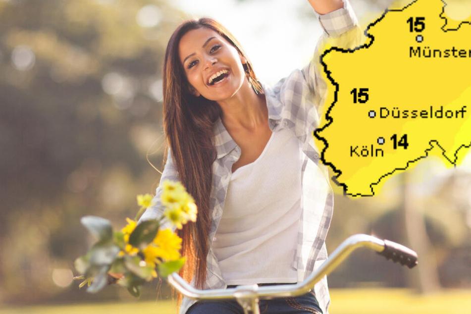 Am Wochenende wird es wieder frühlingshaft in NRW. (Symbolbild)