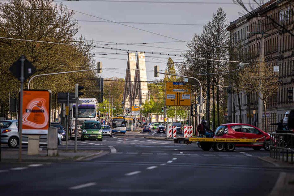Auf der Prager Straße kommt es Anfang 2019 zu Verkehrseinschränkungen.