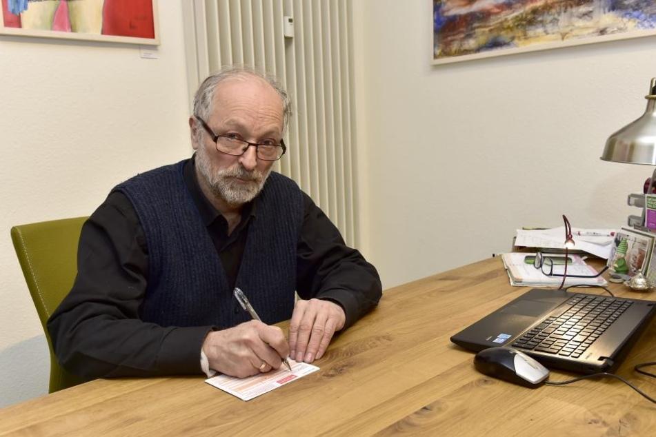 Stadtrat Martin Böttger (69, BfZ/Grüne).