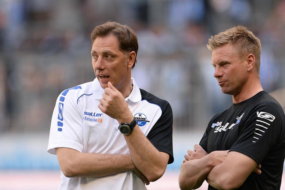 SCP-Coach René Müller kann in Zukunft nicht mehr auf den Rat von Markus Feldhoff (li.) hoffen.