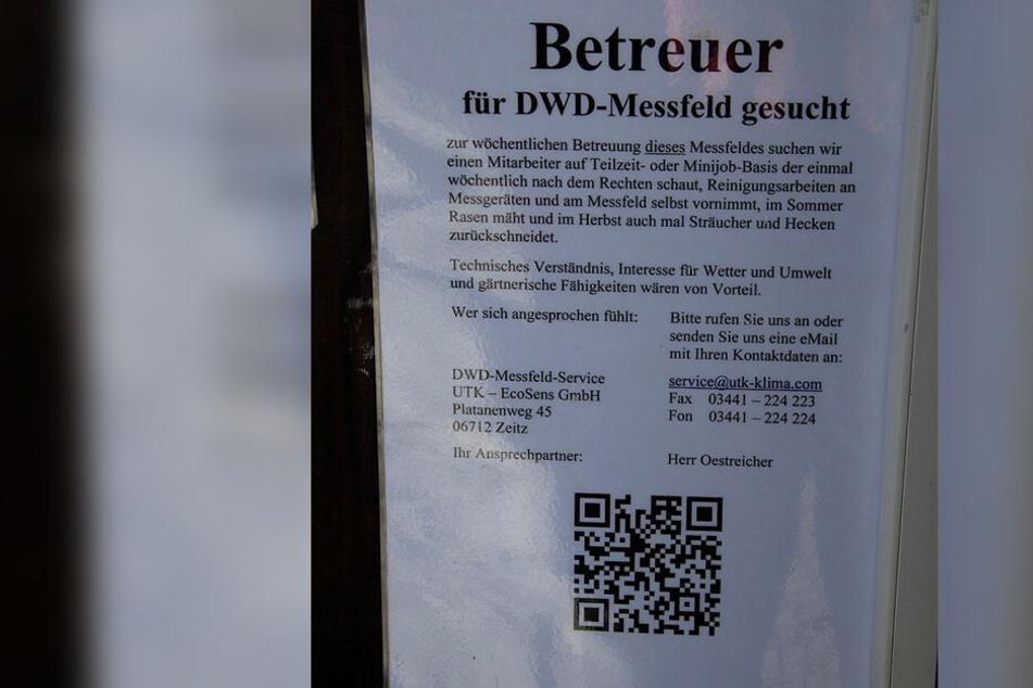 Betreuer für das DWD-Messfeld am Fichtelberg gesucht! Die Grünen glauben nicht, dass die Mini-Job-Lösung funktioniert.