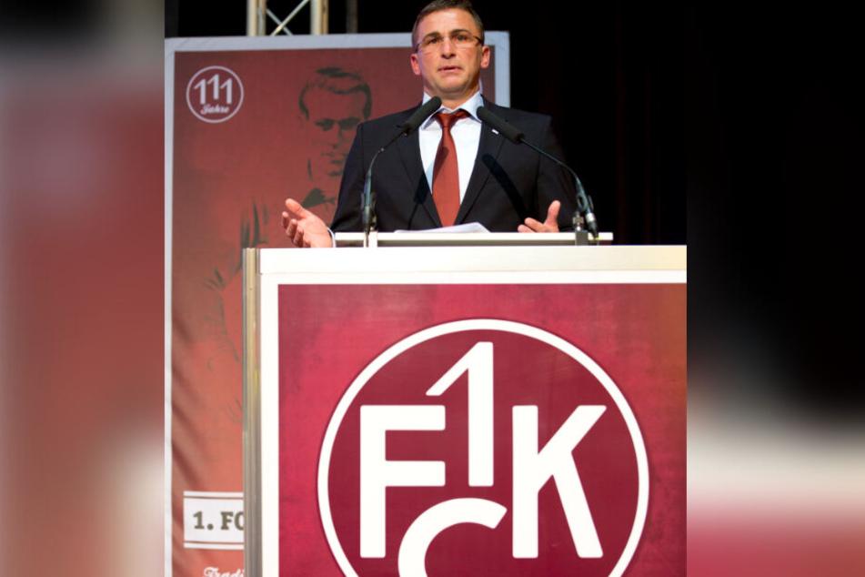 FCK-Meisterspieler und späterer Vorstandsvorsitzender Stefan Kuntz: War auch am Absturz von Waldhof Mannheim beteiligt.