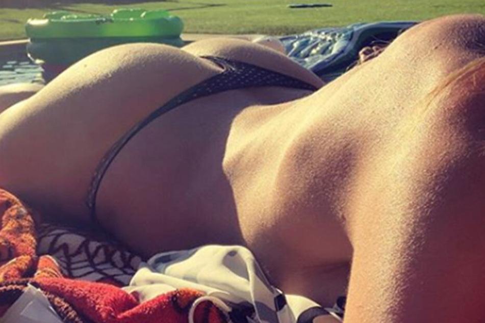 Schon vor einigen Tagen bekamen Heidis Follower Bei Instagram ihren Po zu Gesicht.