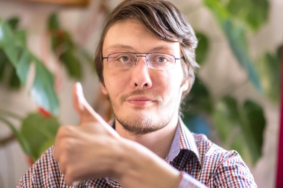 Jetzt kann es losgehen: Marco Nuglisch (30) freut sich über die Zusage vom Jobcenter.