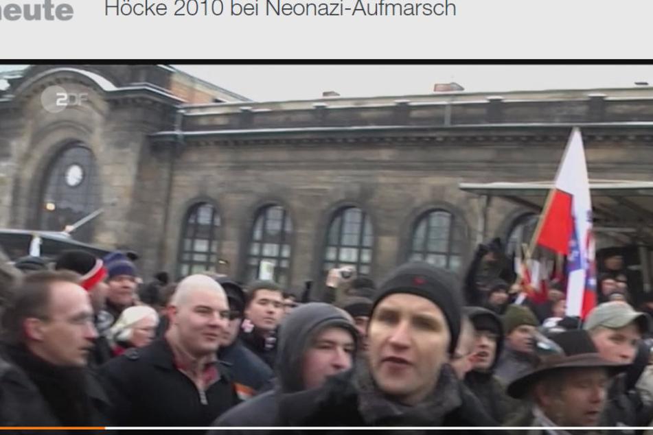 Am 17.2.2017 hat das ZDF Björn Höcke (44) beim Neonazi-Aufmarsch 2010 in Dresden gezeigt.