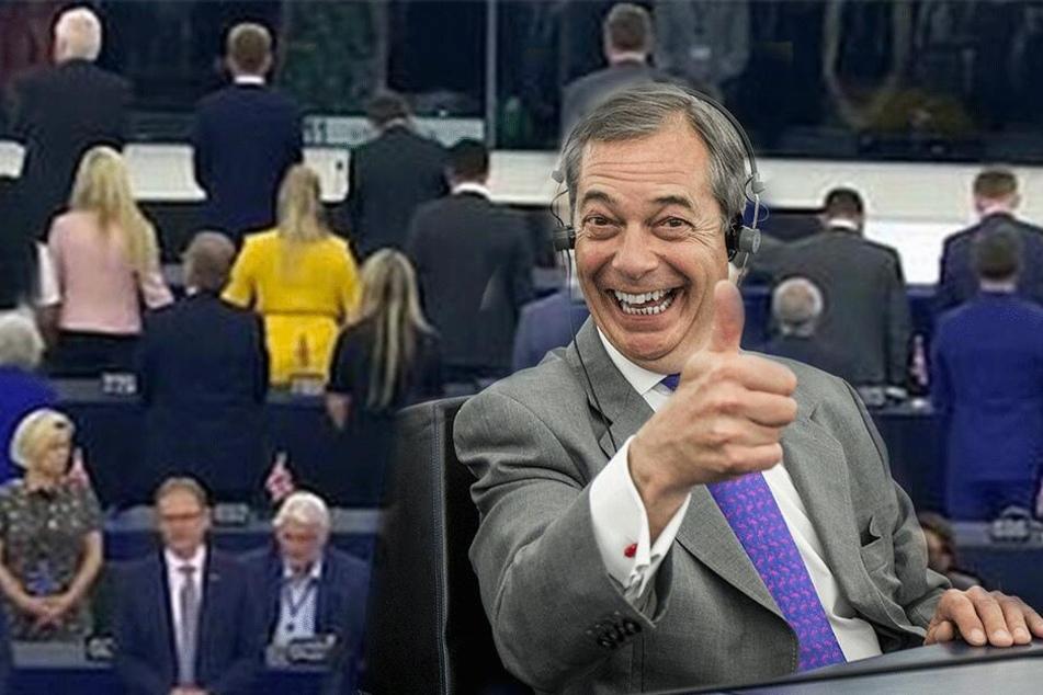 Als die Europahymne erklingt, sorgt diese Partei für einen waschechten Skandal