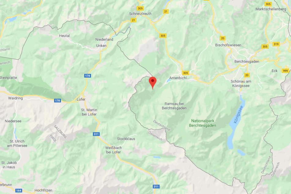 Der Teufelskopf liegt an der deutsch-österreichischen Grenze.