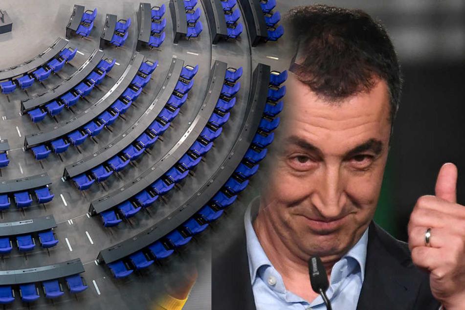 """Die Grünen wiesen den Bericht zurück. Das sei """"alles Quatsch (hier im Bild Cem Özdemir)."""