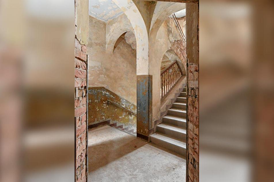 Das historische Treppenhaus soll seinen Charme auch nach der Sanierung behalten.