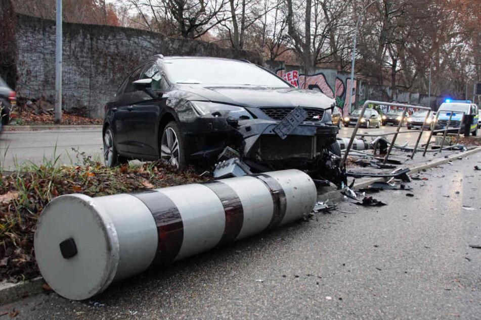 Warum der Fahrer nach links geriet? Unklar.