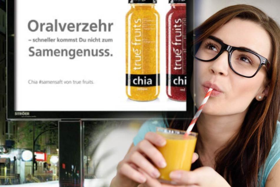Provokante Werbung von True Fruits kann sexistisch wirken.