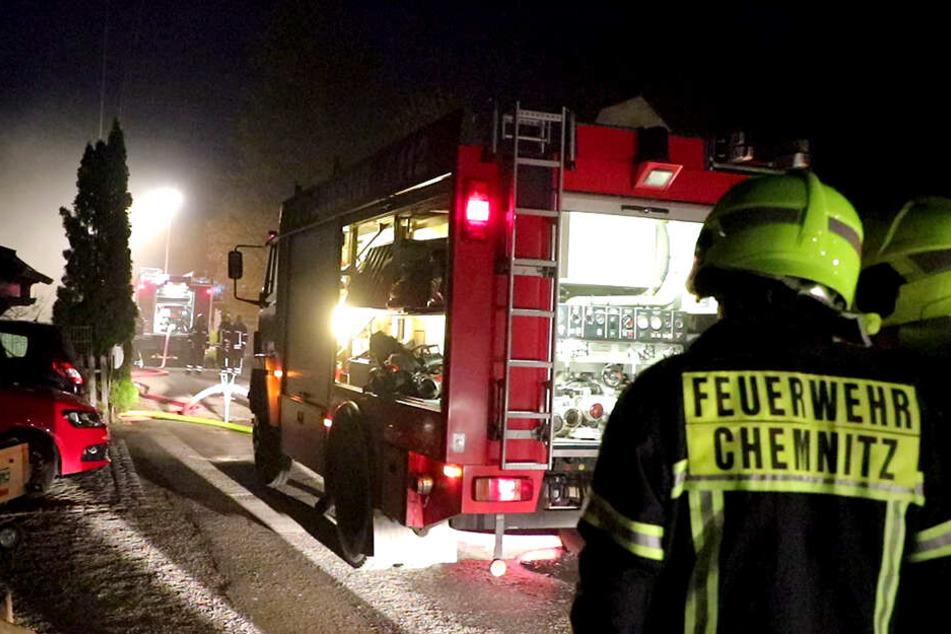 Die Feuerwehr Chemnitz war bei dem Brand im Einsatz.