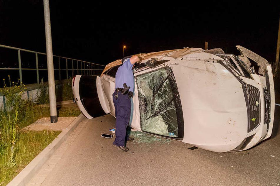 Suff-Unfall: Mann überschlägt sich mit seinem Seat