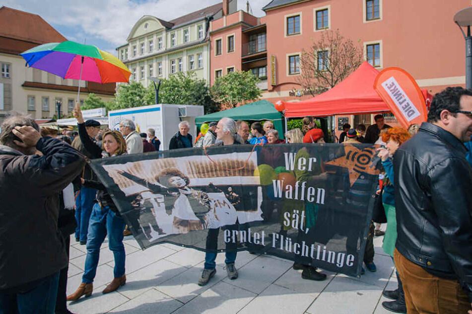 Mai-Demos in Sachsen: Zehntausende fordern soziale Gerechtigkeit