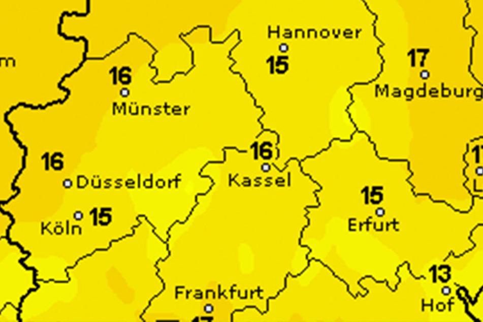 Ostwestfalen-Lippe erreicht maximale Höchsttemperaturen von 16 Grad.