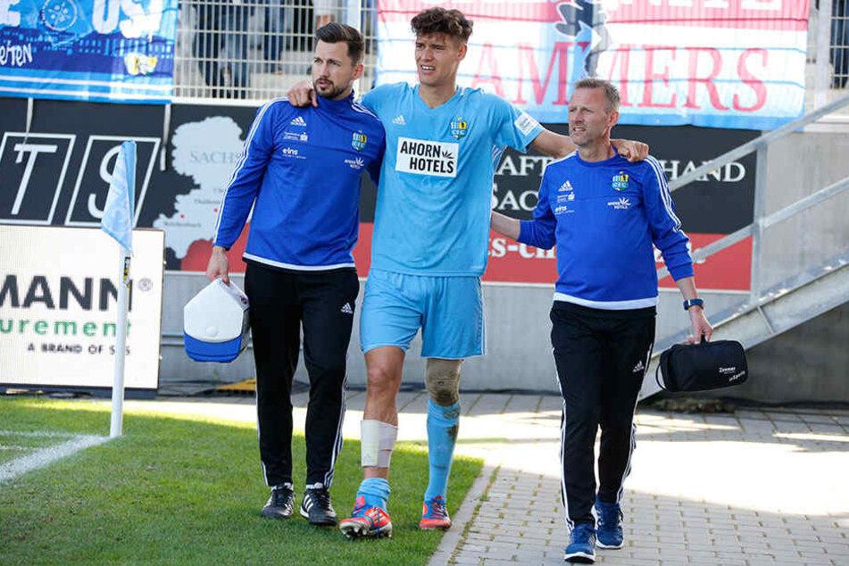 Nach 82 Minuten musste Myroslav Slavov verletzt ausgewechselt werden.