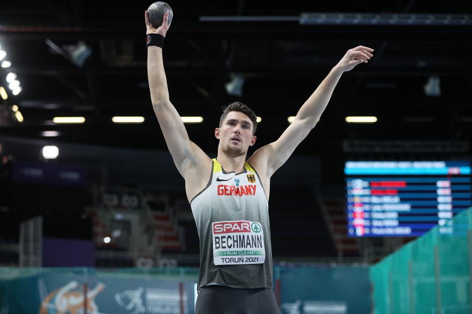 Im Siebenkampf bei der Hallen-Europameisterschaft erreichte Andreas Bechmann insgesamt Rang sechs.