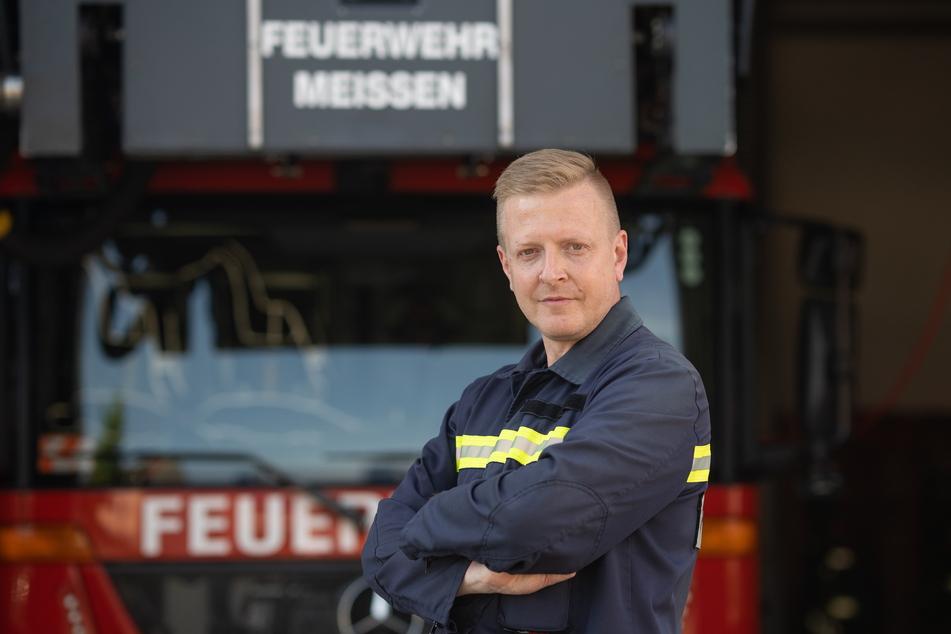 Gemeindewehrleiter Frank Fischer (46) sorgt sich wegen der Brandserie.